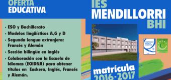 Admisión Curso 2016-2017