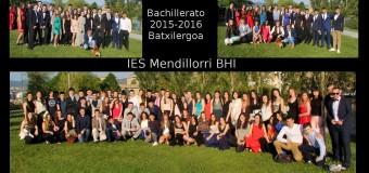 Fotos de la graduación de 2º Bachillerato 2015-16
