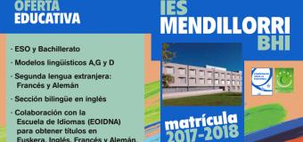 2017-2018  Ikasturterako  Onarpena